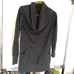 Mossimo Black Cowlneck Sweater with Pockets- Sz M
